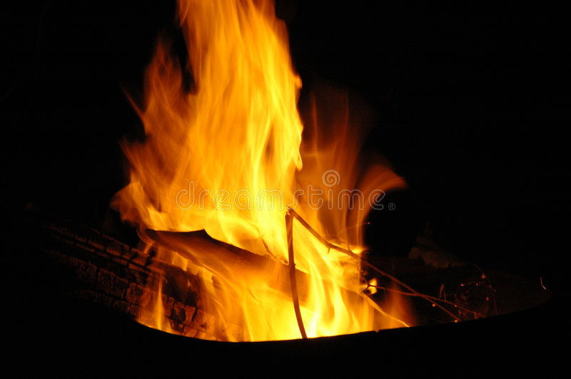 Campfire at night royalty free stock images