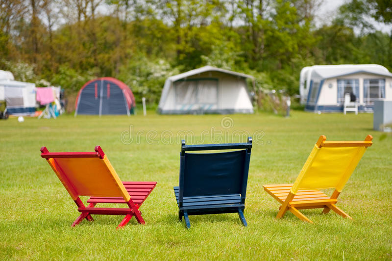 Campground imagens de stock royalty free