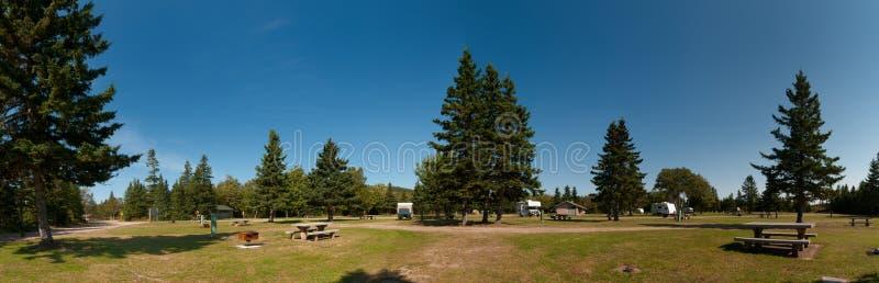 Campground do parque nacional das montanhas bretãs do cabo fotos de stock royalty free