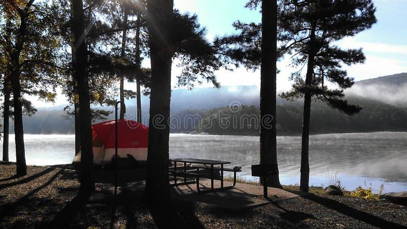 Campground stock photo