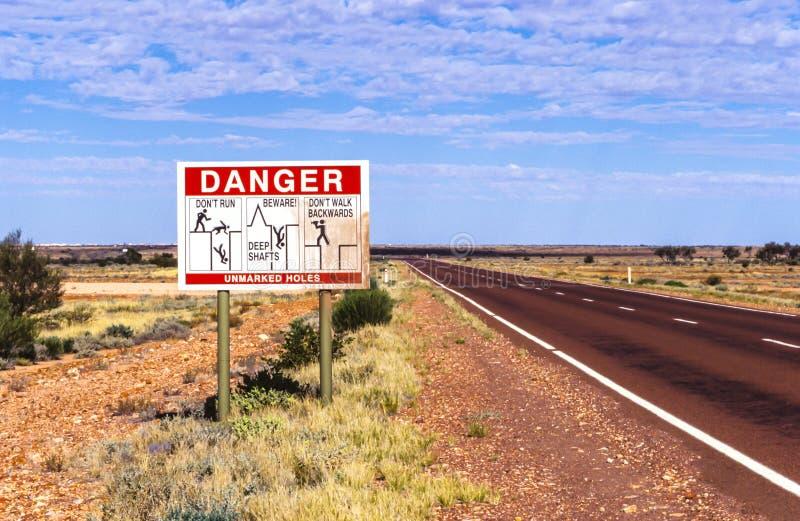 Campi minati australiani fotografia stock
