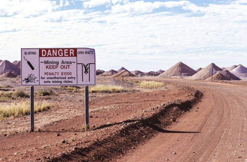 Campi minati australiani fotografie stock libere da diritti