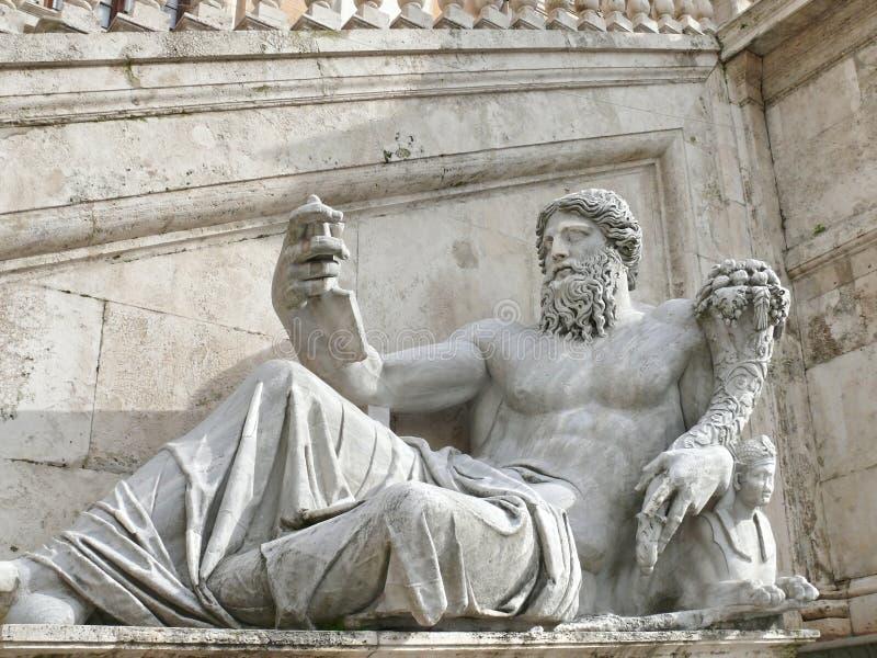 Campidoglio. Ancient statue. Rome. Italy royalty free stock image