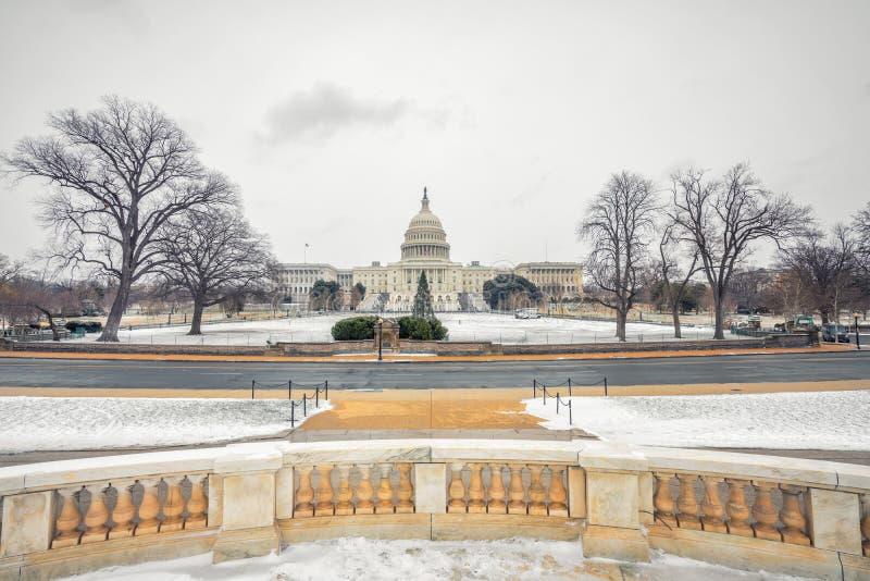 Campidoglio degli Stati Uniti in Washington DC all'inverno immagini stock