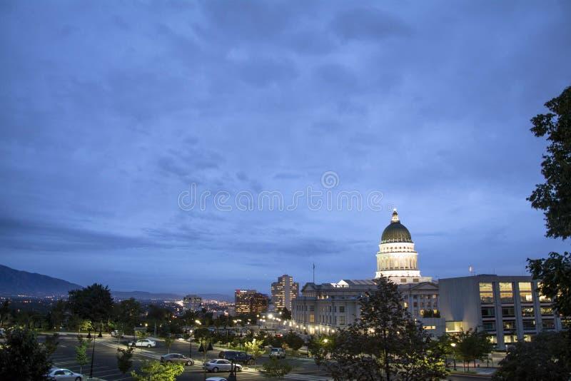 Campidoglio dell'Utah a Salt Lake City Utah fotografia stock libera da diritti