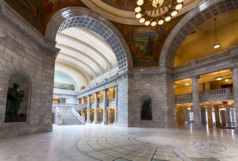 Campidoglio dello stato dell'Utah dell'interno fotografia stock libera da diritti