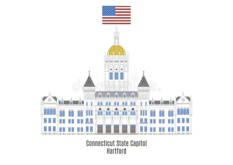 Campidoglio dello stato di Connecticut, Hartford illustrazione di stock