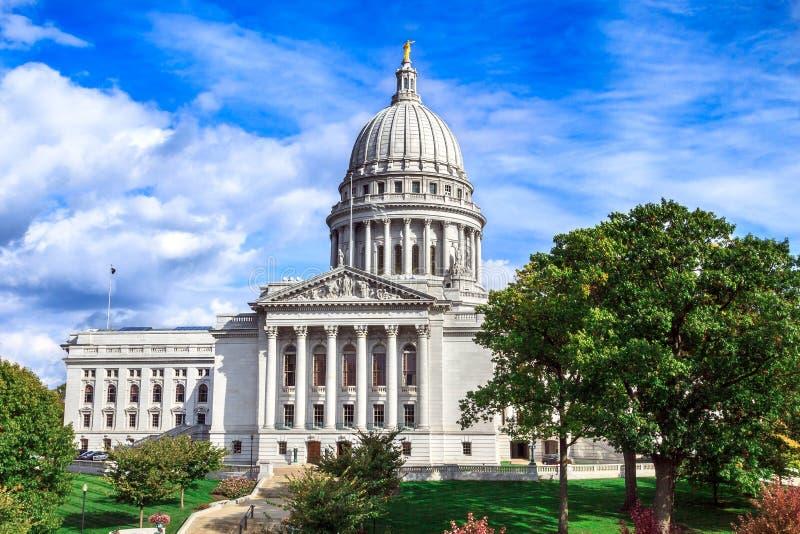 Campidoglio dello stato di Wisconsin a Madison immagine stock libera da diritti
