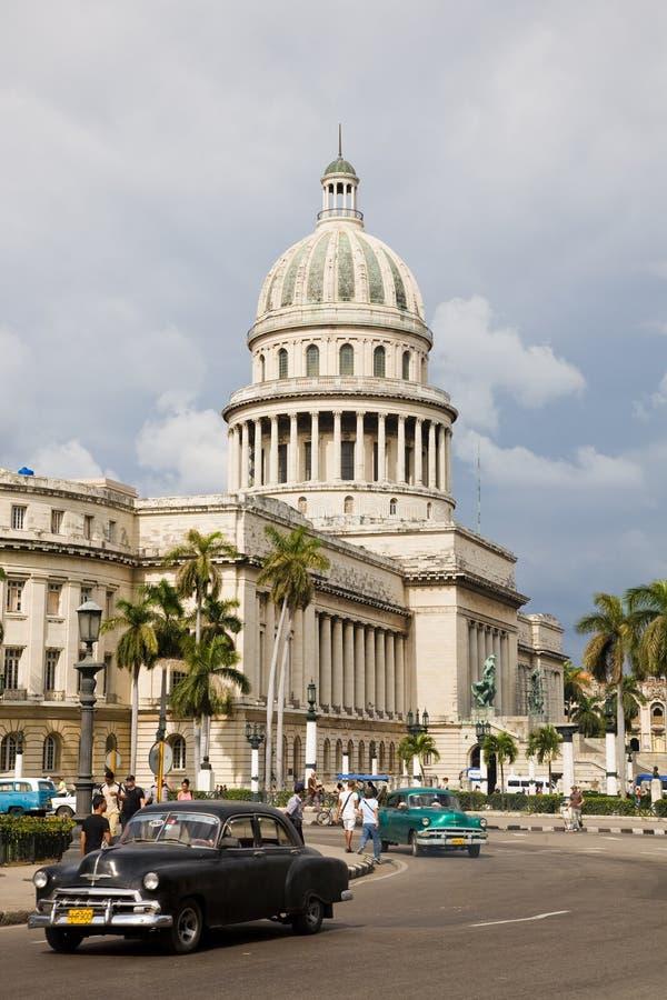 Campidoglio ed automobili, Avana fotografie stock libere da diritti