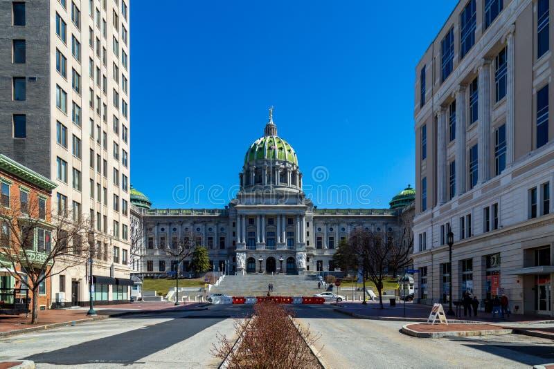 Campidoglio Green Dome dello stato della Pensilvania fotografia stock libera da diritti