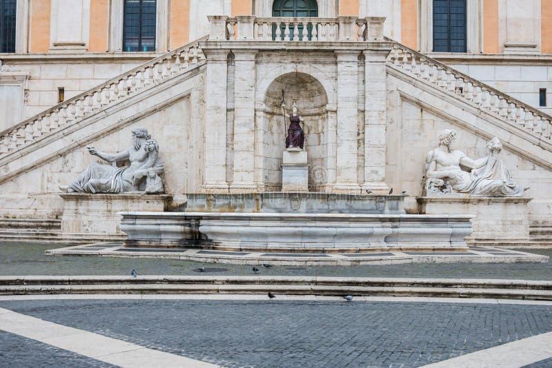 Campidoglio kulle, Rome, Italien royaltyfria foton