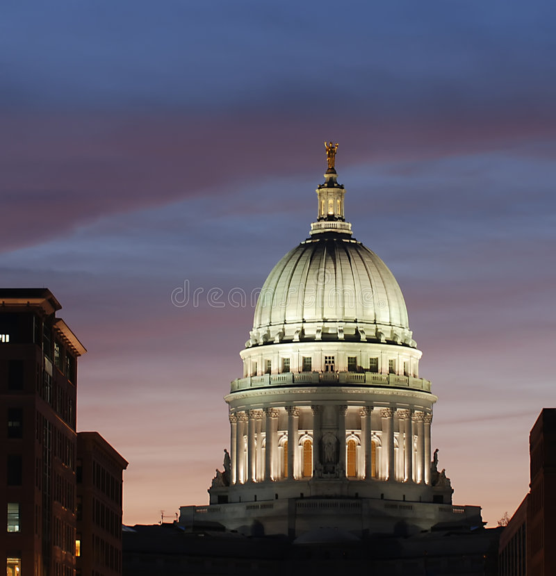 Campidoglio, Madison Wisconsin fotografia stock