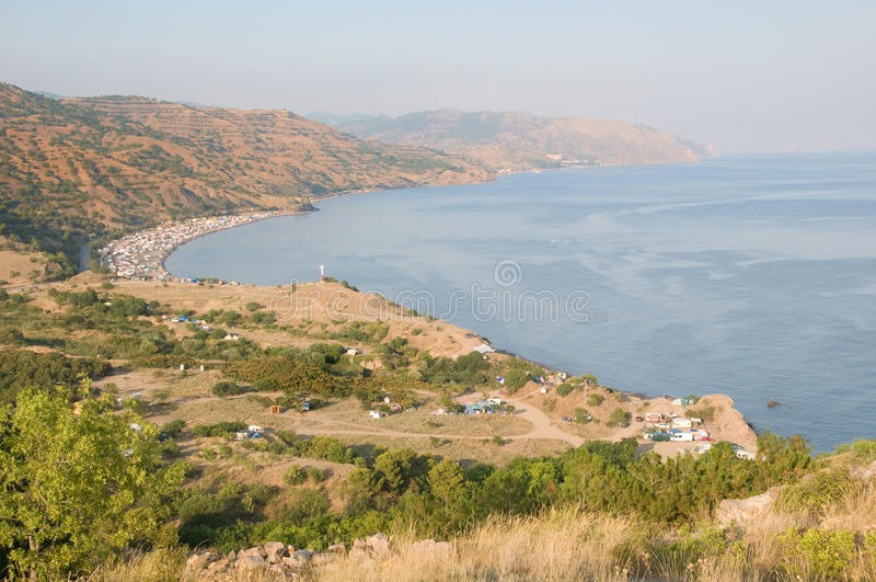 Download Campimg in Crimea stock photo. Image of recreational - 16442630