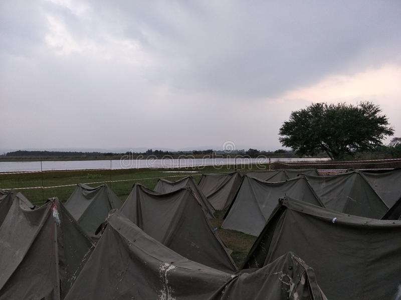 camping stock afbeelding