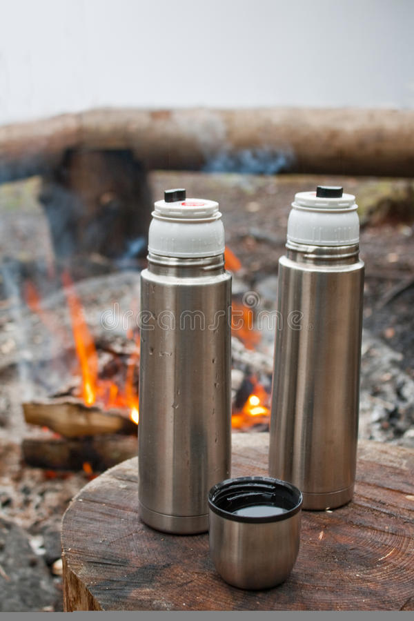 Download Camping stock photo. Image of drink, flask, bottle, campfire - 17226506