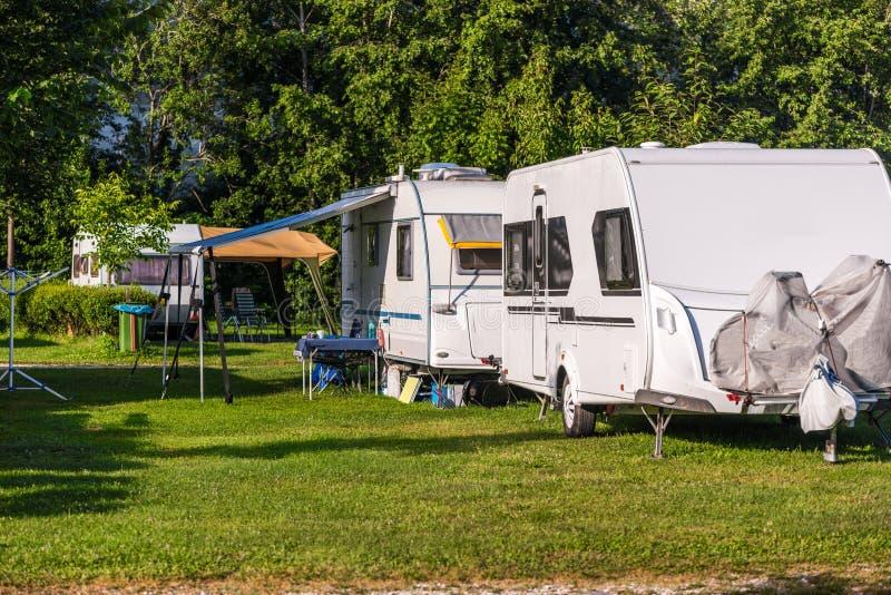 Camping photos libres de droits