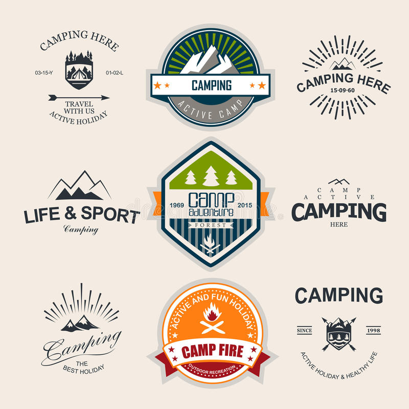 camping vector illustratie
