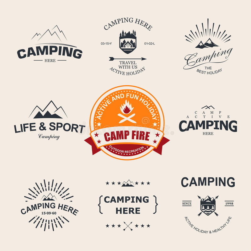 camping stock illustratie