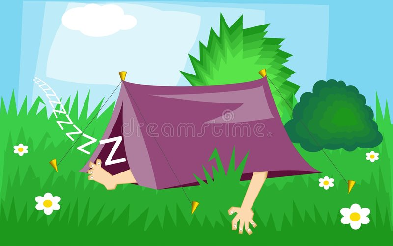 Download Camping stock vector. Illustration of mobile, holidays, body - 51184