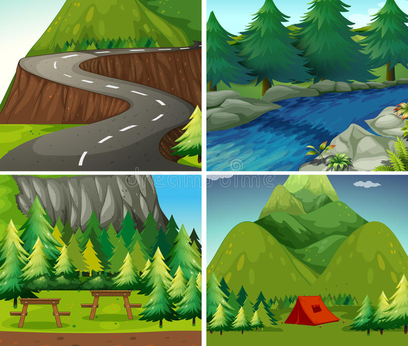 camping vector illustratie