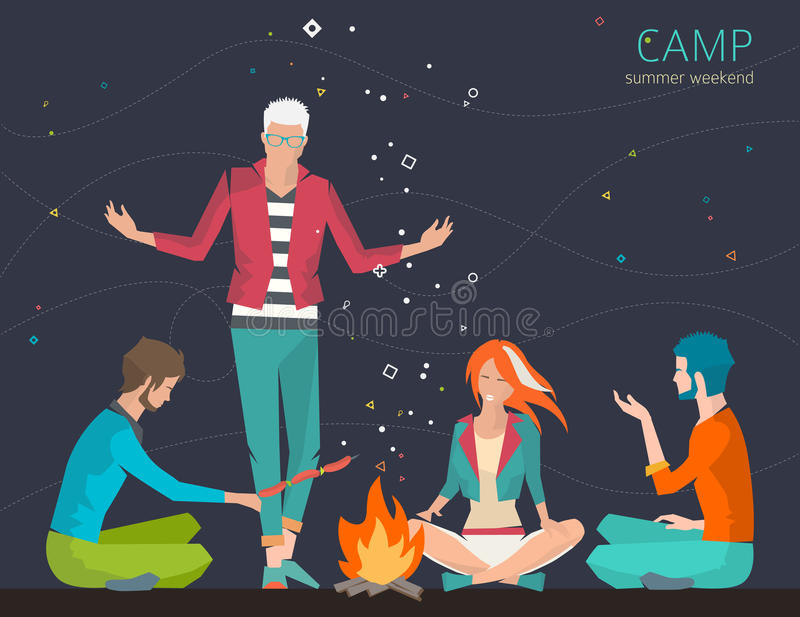 camping libre illustration