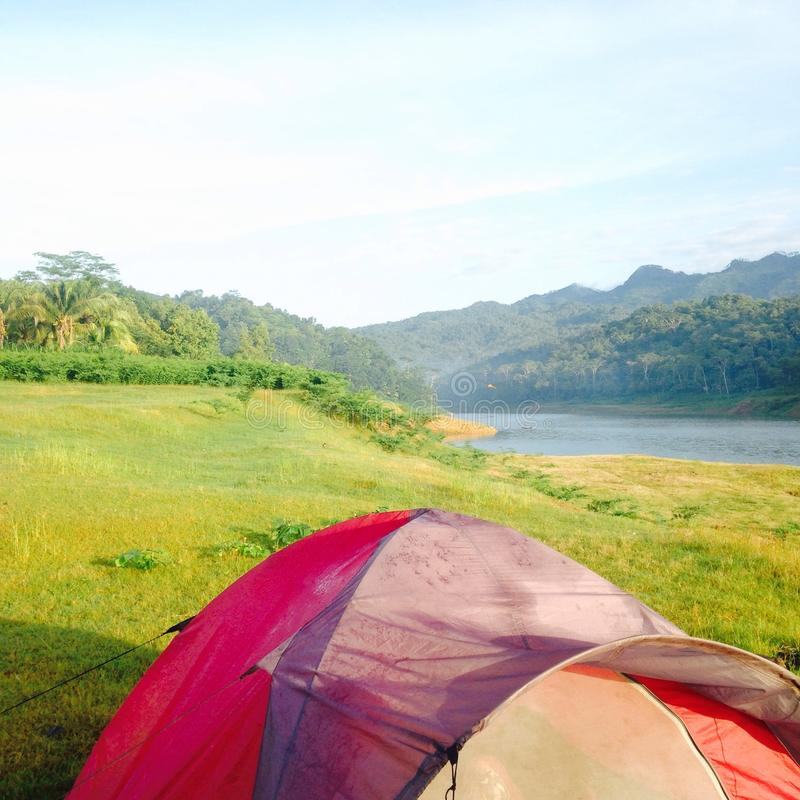 camping royalty-vrije stock afbeeldingen