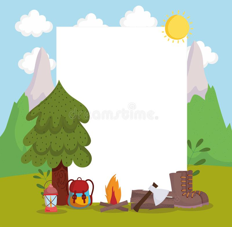 Free Camping Adventure Banner Royalty Free Stock Photo - 217334795