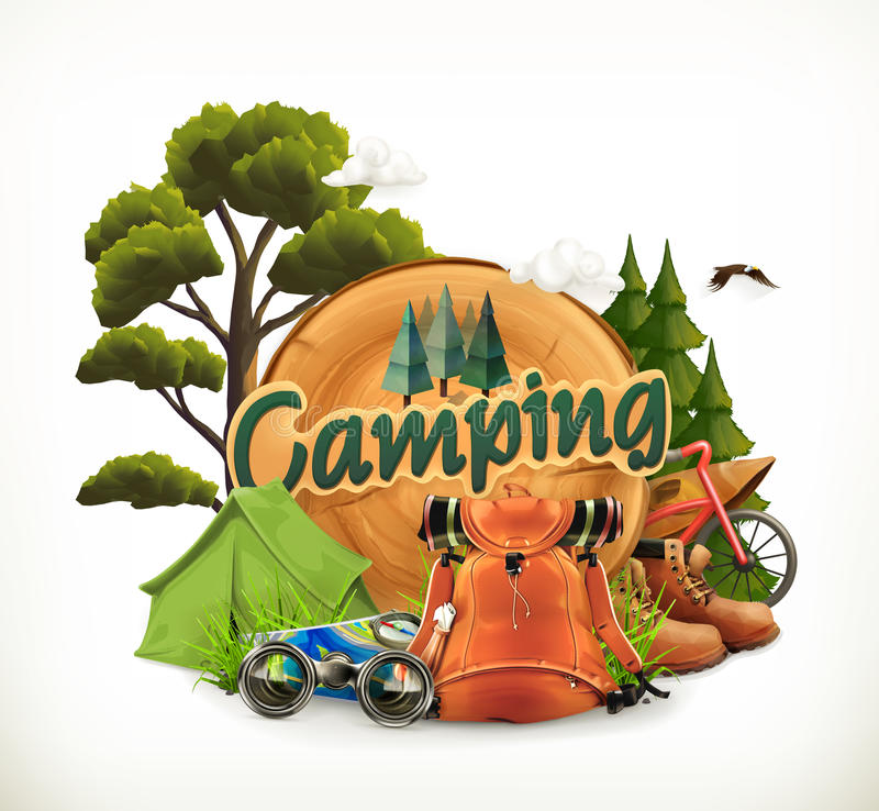 Camping Adventure time stock illustration