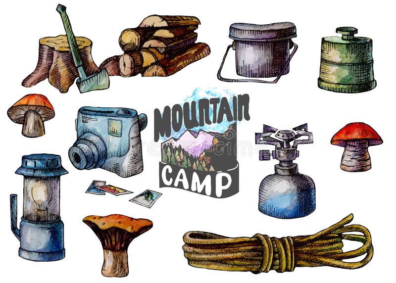 Camping, adventure time vector illustration royalty free illustration