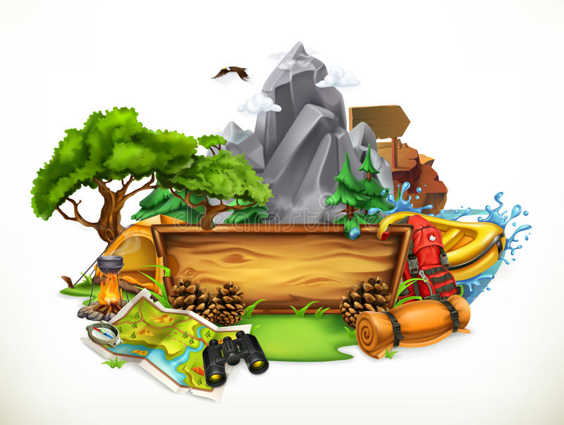 Camping and adventure, vector illustration vector illustration
