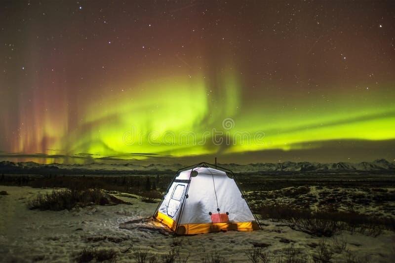 Camping Alaska stock images