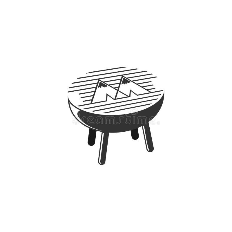 Camping barbeue-logotyp för ditt varumärke arkivfoton