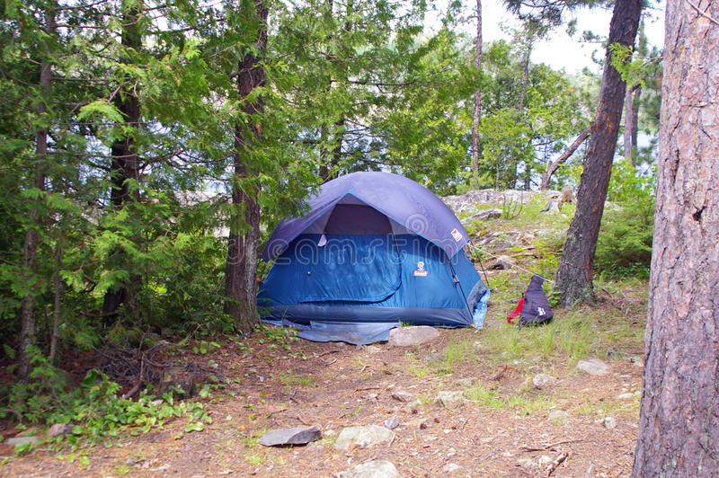 Camping in the Boundary Waters Canoe Area royalty free stock photography