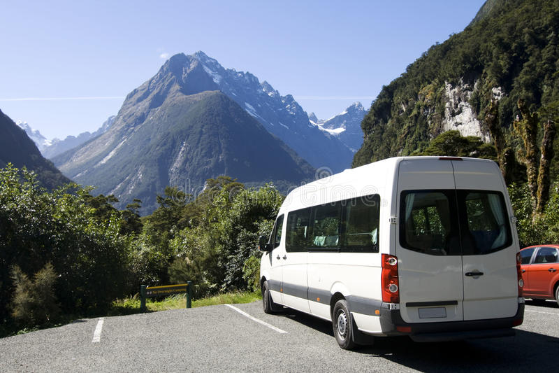 Camping-car avec la vue images libres de droits