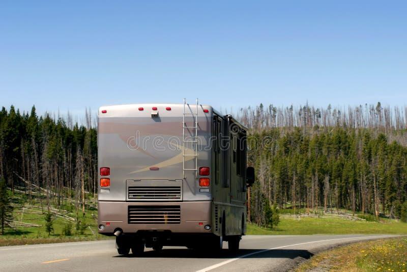 Camping-car moderne de rv images libres de droits