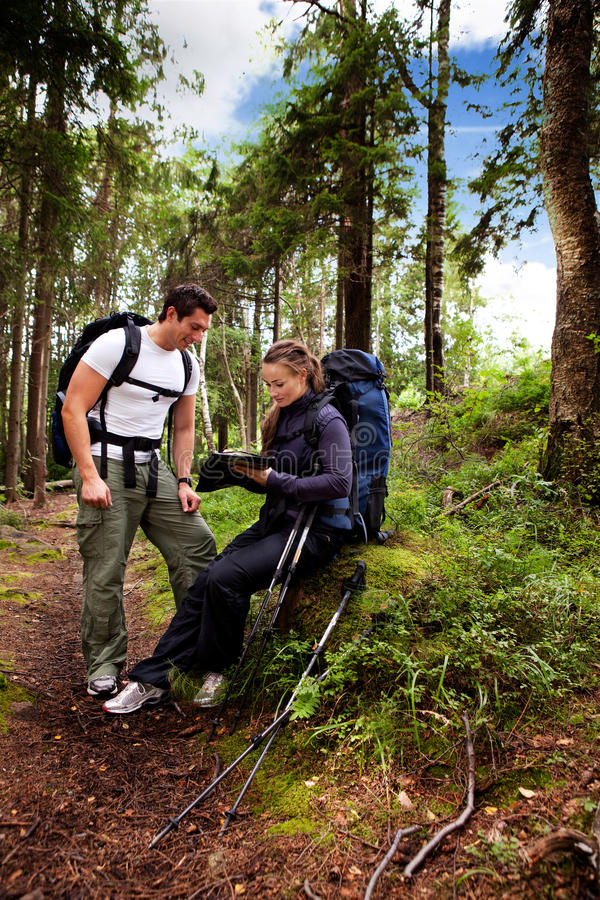Camping Couple stock photography