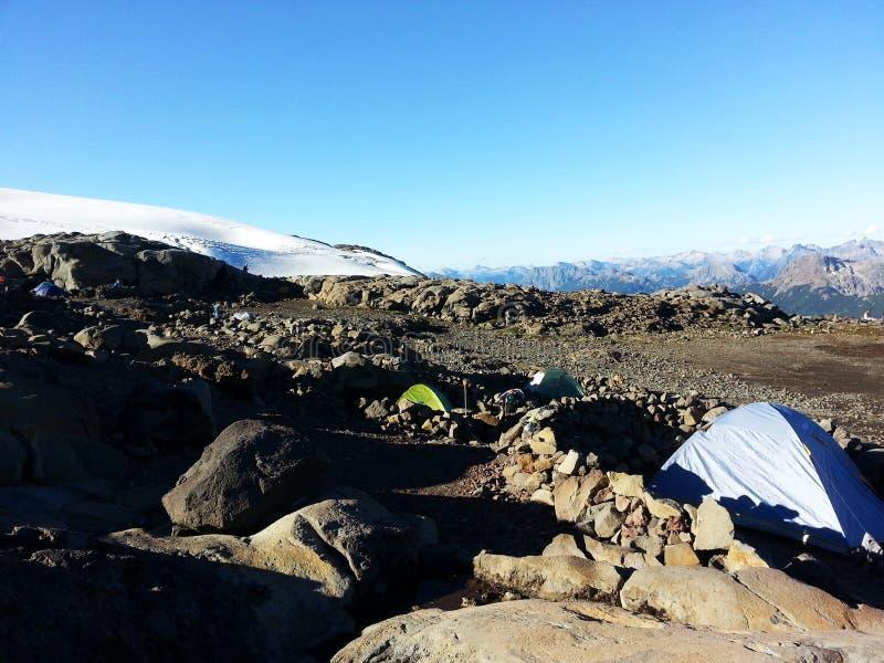Camping de Cerro Tronador images libres de droits