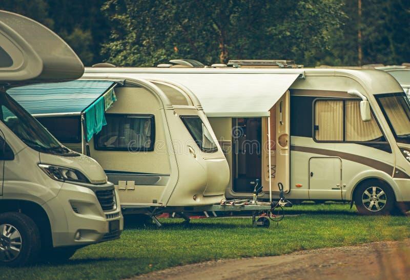 Camping de parc de rv image libre de droits