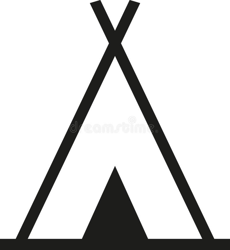 Camping de symbole de tepee illustration de vecteur