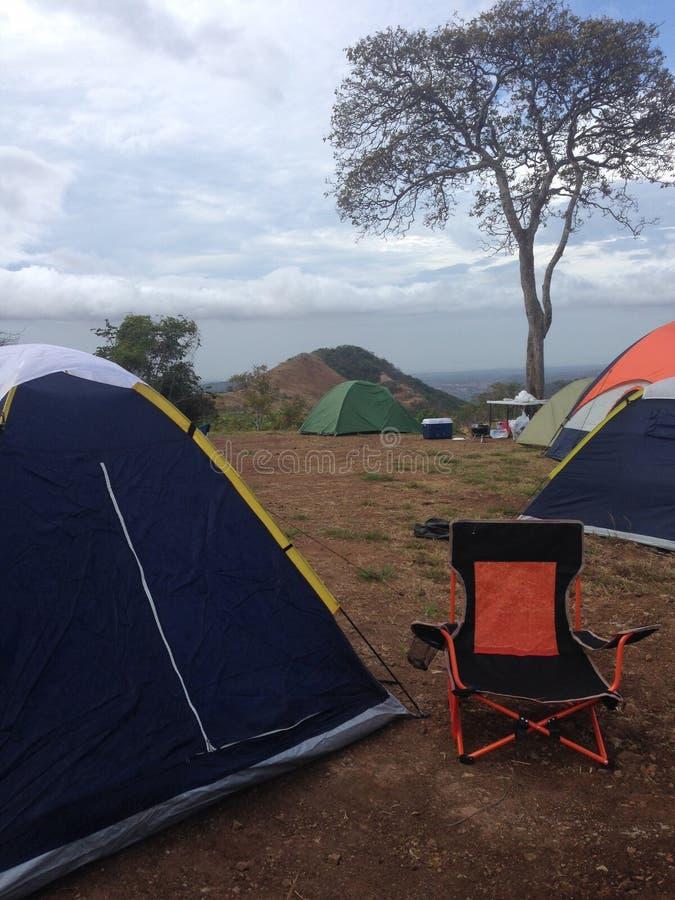 Camping en Campana imagen de archivo libre de regalías