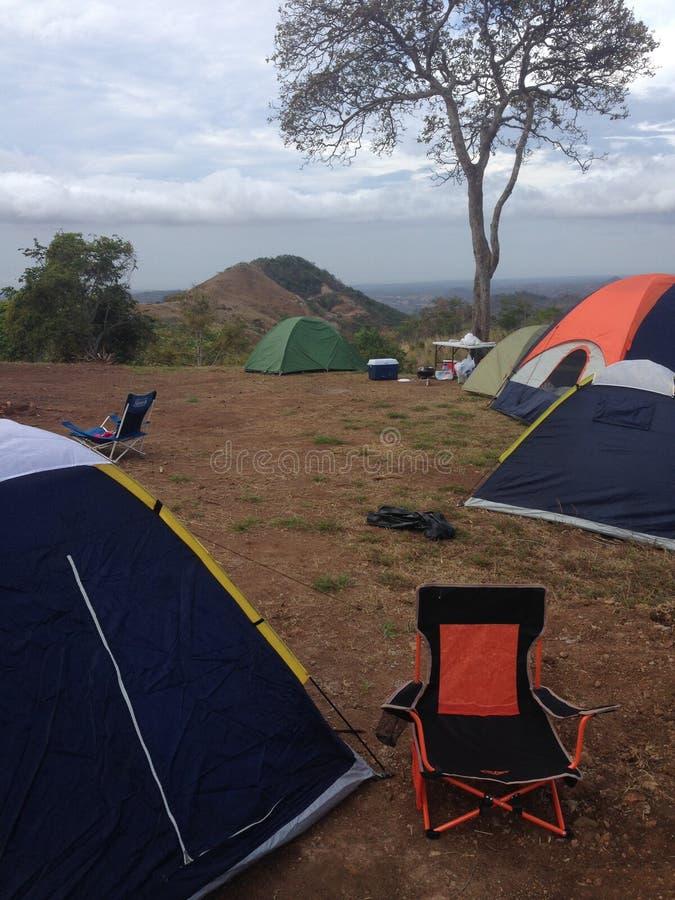 Camping en Campana imágenes de archivo libres de regalías