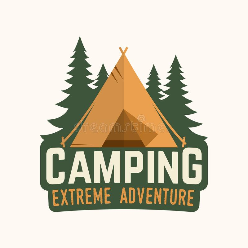 Free Camping Extreme Adventure . Vector Illustration. Royalty Free Stock Photo - 118271075