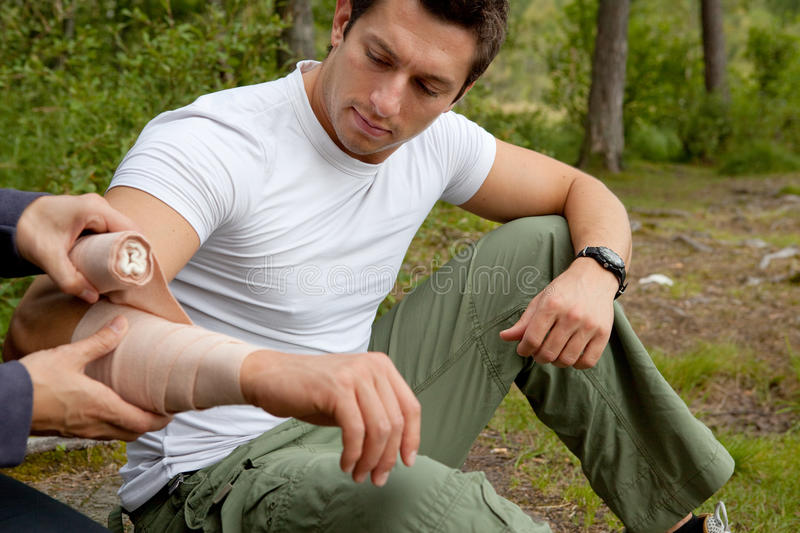 Download Camping First Aid stock photo. Image of leisure, adult - 10611336