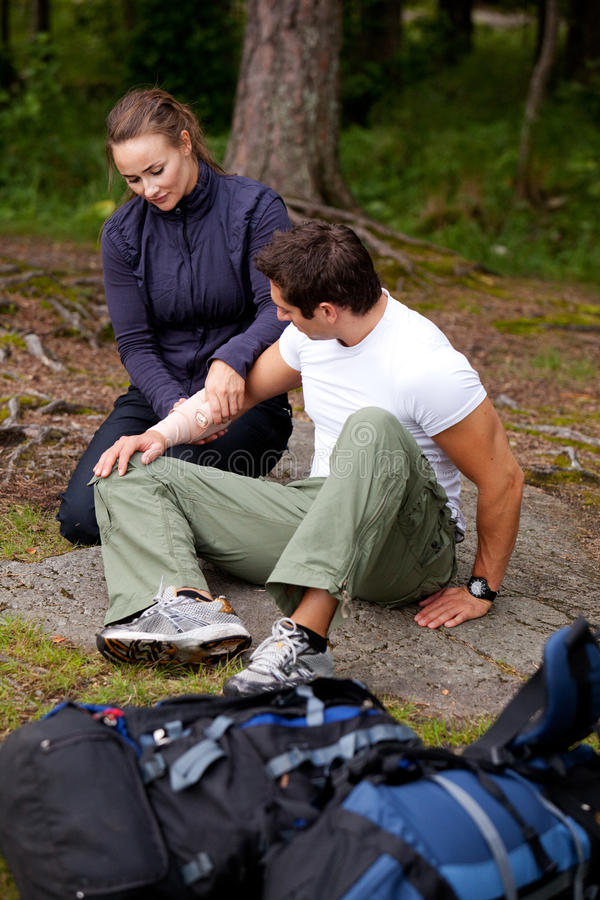 Camping First Aid royalty free stock photos