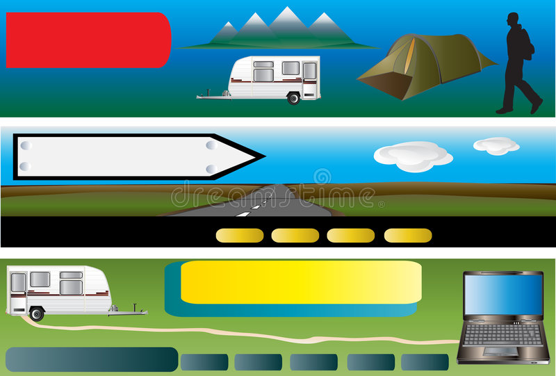 Camping Flavoured Banners royalty free illustration