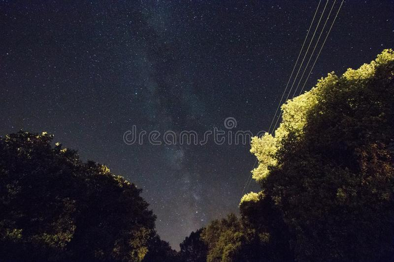 Milky way at night royalty free stock images
