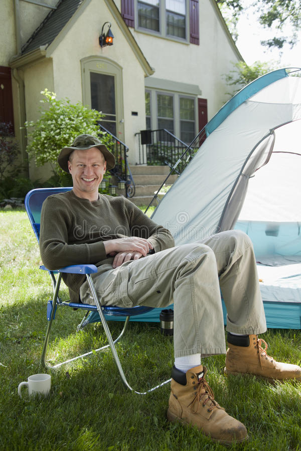 Download Camping at home stock photo. Image of home, residential - 20116718