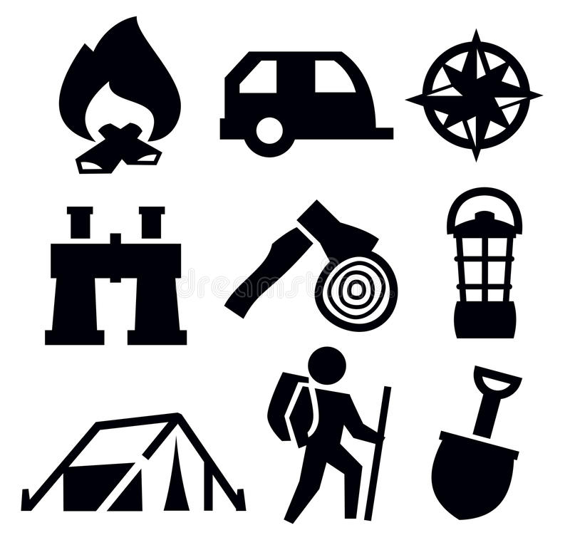 Download Camping icon stock vector. Illustration of compass, camper - 29223513