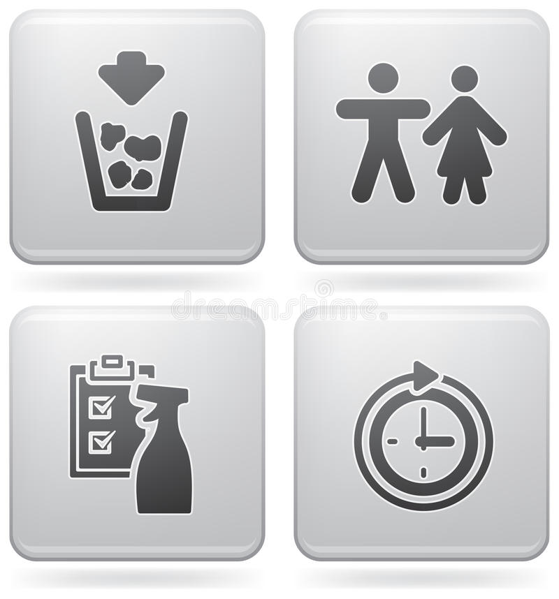 Download Camping Icons stock vector. Image of toilet, background - 15556366