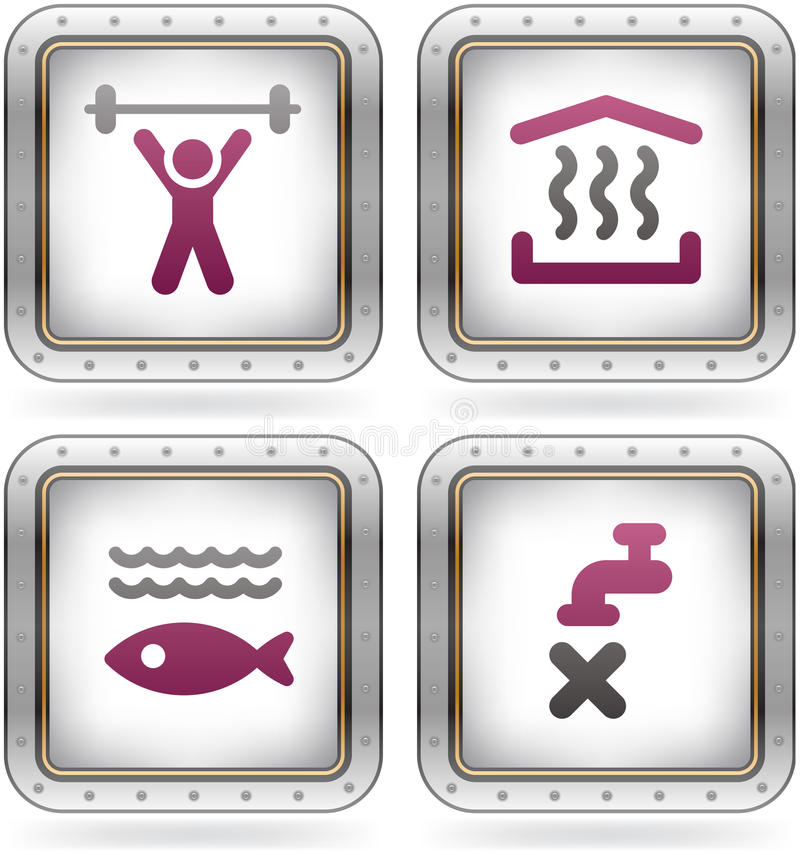 Download Camping Icons stock vector. Image of pink, isolated, outlines - 21451563